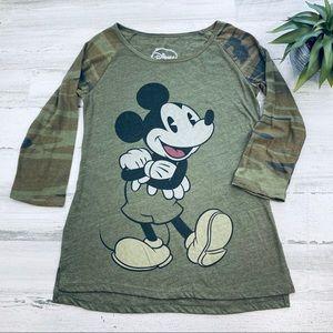 Disney camo Mickey tee